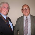 Colonel Macellan, a guest at our luncheon in 2005.  As a young man and vice chairman of our sponsers, coulsdon Rotary, in 1968 Col. 'Mac' was chairman at our inugural meeting.