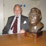 Roger Deayton and the bust of Harold Blanchard.  Roger was a personal friend of Harold.