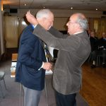 Hugh Roberts receiving the chain of office from Dennis Evans 2008